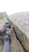 Rock Climbing Photo: Follow the nice hand, to fist to slightly offwidth...