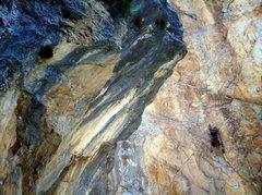 Rock Climbing Photo: Great climbing on Great Train Robbery