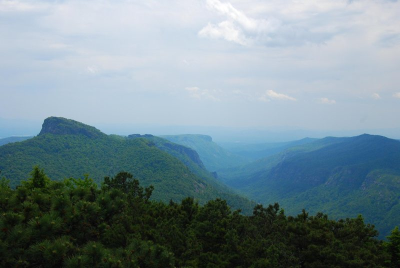 Rock Climbing Photo: looking south toward Table Rock & Linville