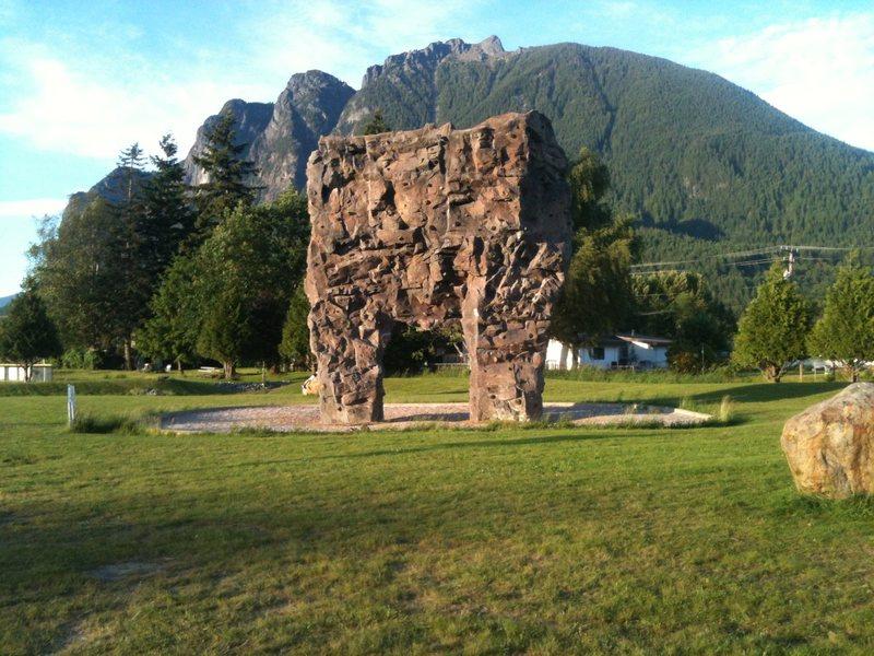 Rock Climbing Photo: The south face of the Torgusen Park rock wall.