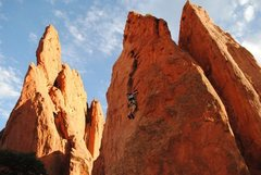 Rock Climbing Photo: Red Twin Spire, Garden of the Gods, Colorado Sprin...