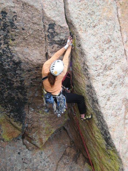 Rock Climbing Photo: Alison gettin' some True Religion.