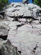 Rock Climbing Photo: Burt does a lap