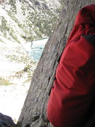 Rock Climbing Photo: Emerald Lake from top of first pitch. Icebergs cov...
