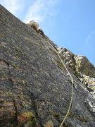Rock Climbing Photo: Jeff on 3rd pitch.