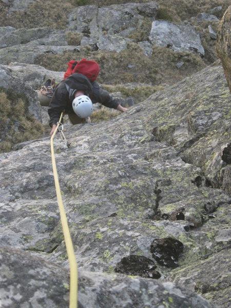 Rock Climbing Photo: Above the big ledge.