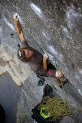 Rock Climbing Photo: Alexander B pulls the crux of Danger Boy, at Wheel...