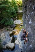 Rock Climbing Photo: Alexander B on Danger Boy at Wheeler Gorge.