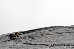 Rock Climbing Photo: Chance on pitch 4 a splitter finger crack