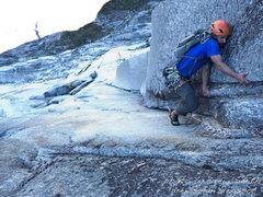 Rock Climbing Photo: Chance leading pitch 13