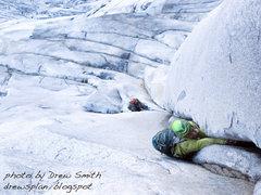 Rock Climbing Photo: Daniel Seeliger leading pitch 16