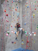 Boulder Rock Club - Leslie climbing the TRUBLUE Auto Belay