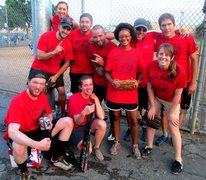 Eldorado Climbing Walls has a company softball team... and I'm on it! :)