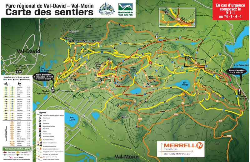 Trail map for Parc Dufresne.