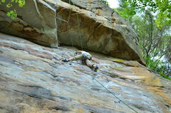 "Rock Climbing Photo: The Climb ""Satisfaction Guarantee -- THE ROOF..."