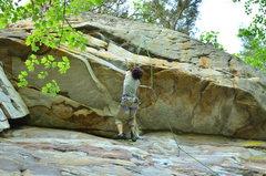 "Rock Climbing Photo: The Climb ""Satisfaction Guarantee -- THE ROOF..."