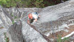 Rock Climbing Photo: Josh climbing through the crux