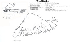 Topo with access info. Drawn by A. Jones
