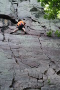 Rock Climbing Photo: Young Mr. Skinner on a fine lead of Lost Face Fing...