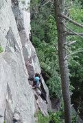 Rock Climbing Photo: Photo 1 of Doug leading Stuck Knee 6-16-13.