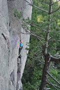 Rock Climbing Photo: Photo 2 of Doug leading Stuck Knee 6-16-13.