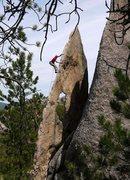 Rock Climbing Photo: ce on Gossamer.  Wow.