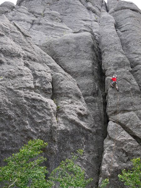 Rock Climbing Photo: Excellent route.  ce on PLD