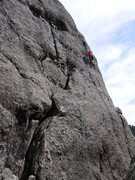 Rock Climbing Photo: climbing the bolted start to weird water.  amazing...