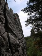 Rock Climbing Photo: Higher up on SM