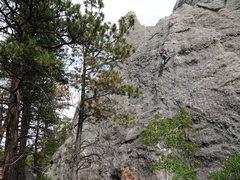 Rock Climbing Photo: Matt on Skid Marks