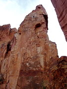 Rock Climbing Photo: M. Miner rappelling after we climbed the splitter ...