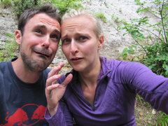 "Rock Climbing Photo: Us after a day of climbing. Me: ""Please no mo..."