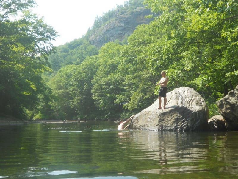 Rock Climbing Photo: The best way to relax after a hot Rumney day!