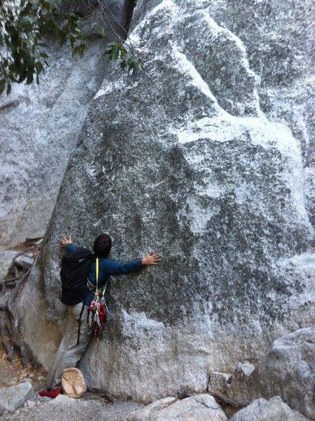 Hugging El Cap. Finally made it!