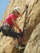 Rock Climbing Photo: Cruising the Old Bolt Ladder on the Jesus Wall.