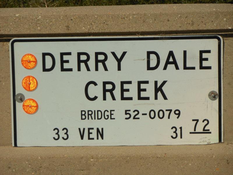 Derry Dale Bridge, not far from Derrydale Cliff.
