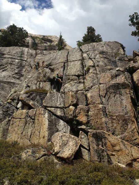 Rock Climbing Photo: Maria topropes a nice crack line on the east side ...