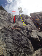 """Rock Climbing Photo: Alex sets up for his shot in the middle of """"N..."""