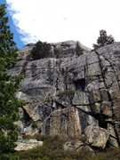 "Rock Climbing Photo: Amy belay Alex up the central crack on ""New P..."