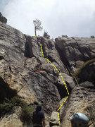 Rock Climbing Photo: Amy on the crux.