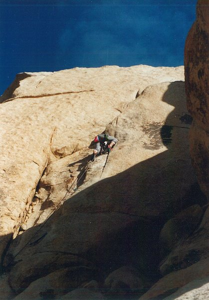 Rock Climbing Photo: approaching the Flake