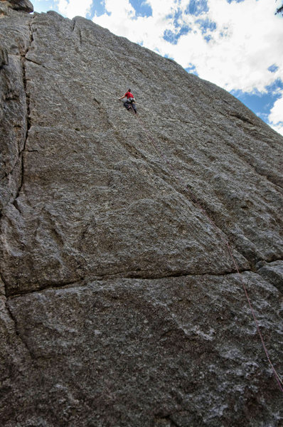 Rock Climbing Photo: Two Year Plan. Clasic Crack to the left. June 2013...