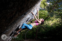 Rock Climbing Photo: Bouldering in the Secret Garden, Little Cottonwood...