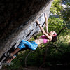 Bouldering in the Secret Garden, Little Cottonwood Canyon.<br> www.dcranephoto.com