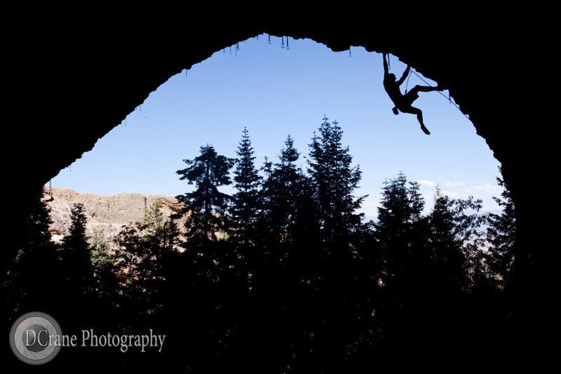 Climbing in Pipe Dream - Maple Canyon, Utah<br> <br> www.dcranephoto.com