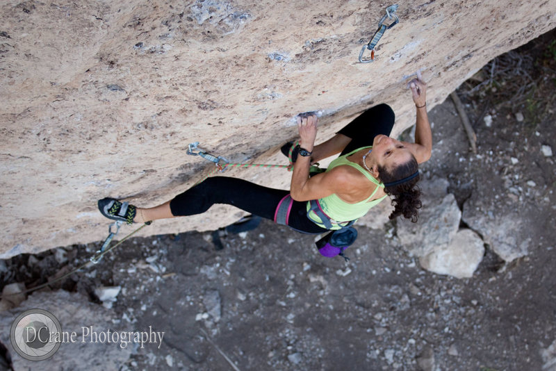 Climbing in Ten Sleep Canyon, Wyoming<br> <br> www.dcranephoto.com
