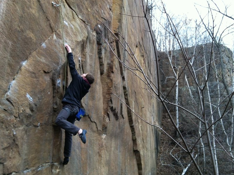 Rock Climbing Photo: Chris (Cow) Schwappach helping me figure out the c...
