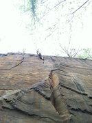 Rock Climbing Photo: Jimmy cruising the top.