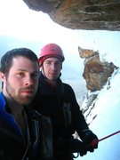 Rock Climbing Photo: Me and Simon in the Standard Rt. cave.  Beautiful ...