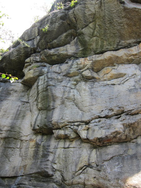 Rock Climbing Photo: Direct Drive winds through the blank face on the r...